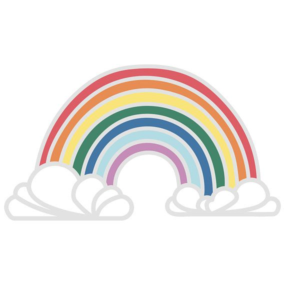 570x570 Rainbow Silhouette Cricut Cut File Svg Dxf Png Cricut