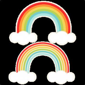 300x300 Rainbows Svg Cutting File For Scrapbooking Cute Cut Files Free