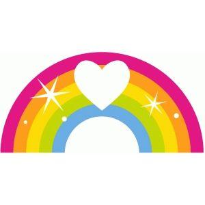 300x300 Silhouette Design Store Heart Rainbow Free Svg