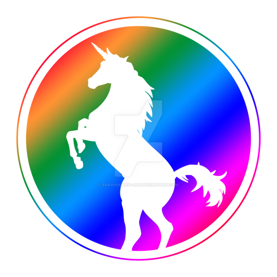 894x894 Unicorn Silhouette Rainbow By Sarahughey Art