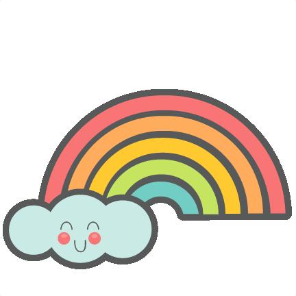 432x432 Cute Rainbow Svg Cut Files For Scrapbooking Silhouette Cut Files