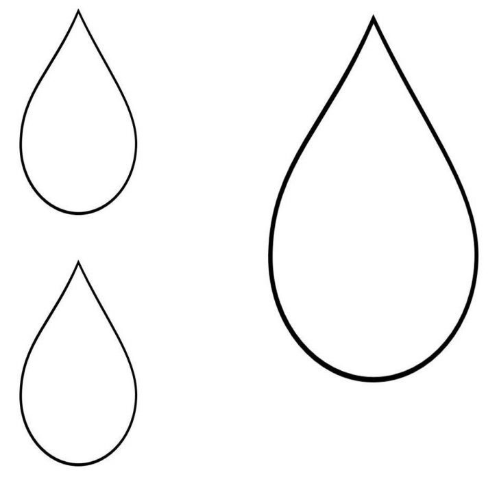 728x703 Outline Clouds Clipart The Cliparts Small Raindrop Template