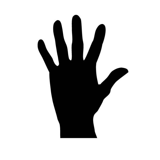 660x660 Raised Hand Silhouette