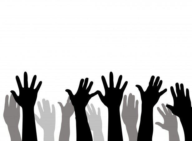 615x452 Raised Hands Free Stock Photo
