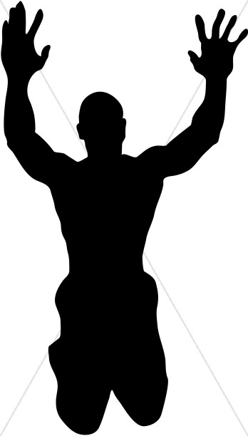 348x612 Raised Hands In Praise Silhouette Clipart