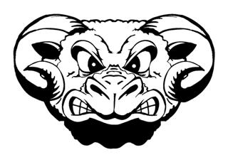 320x228 Angry Ram Head Decal Sticker