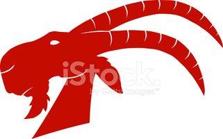 321x200 Red Ram Head Silhouette Stock Vectors