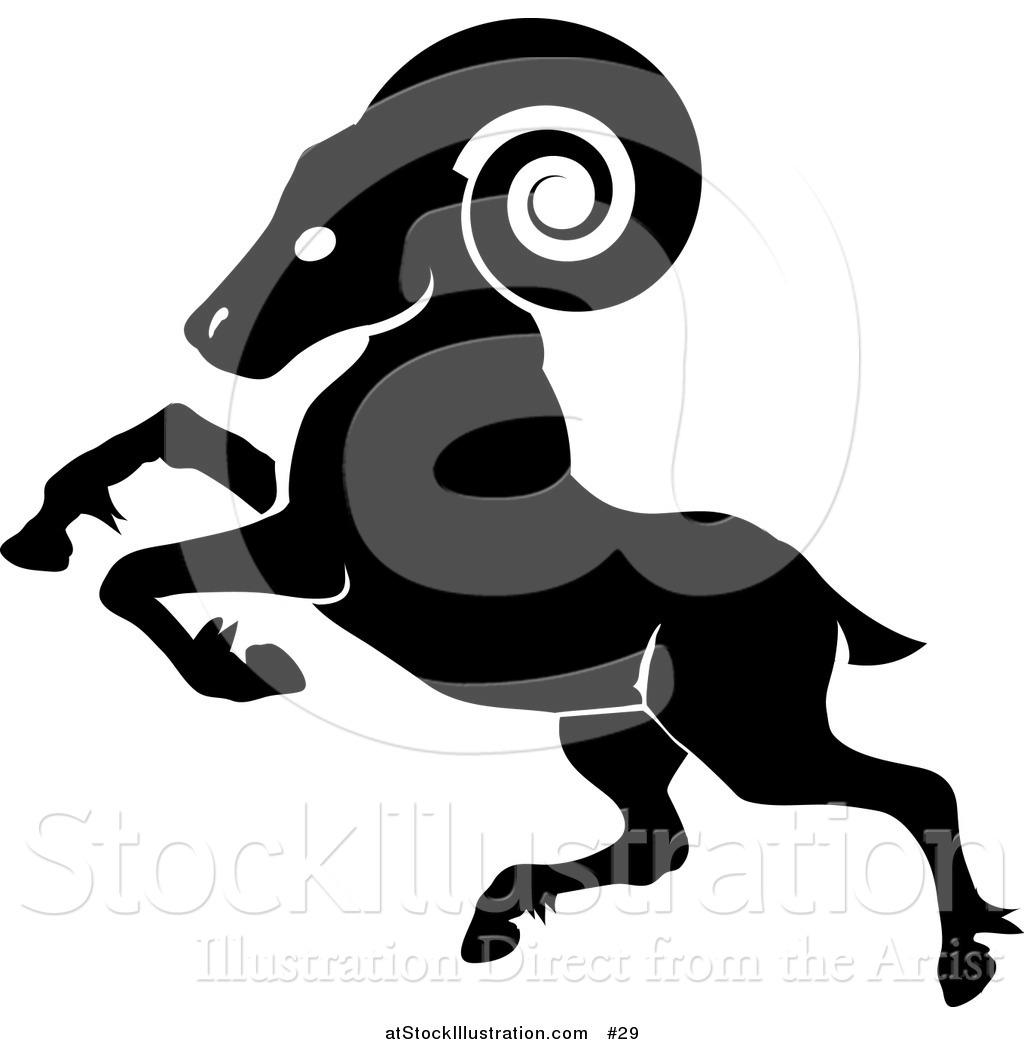 1024x1044 Illustration Of A Black Ram Capricorn The Zodiac By