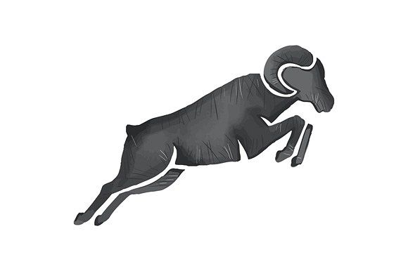 580x386 Ram Goat Silhouette Jumping Silhouette, Cricut And Crafts