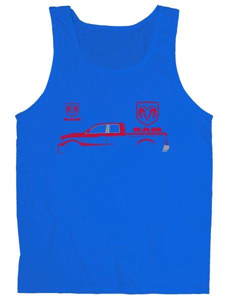 454x600 Red Ram Silhouette Tank Top Teeshirtpalace