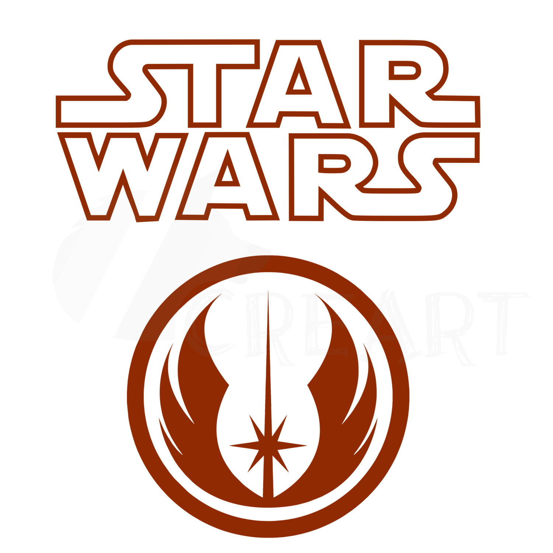 1500x1500 Star Wars Silhouette, Jedi Order Logo Printable Clipart File