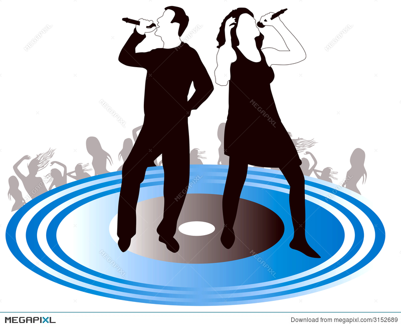 800x652 Male Female Singers Silhouette Illustration 3152689