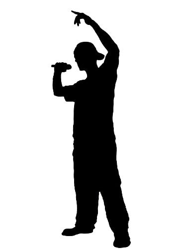 364x500 Free Shopping!wall Decal Art Sticker Quote Vinyl Rapper Silhouette