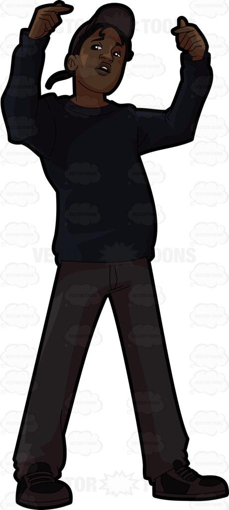 460x1024 A Guy Rapper Cartoon Clipart
