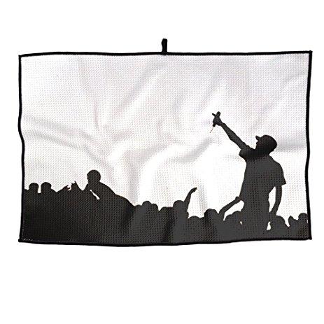 463x463 A Rap Silhouette Golf Towel Microfiber 23x14 Inches
