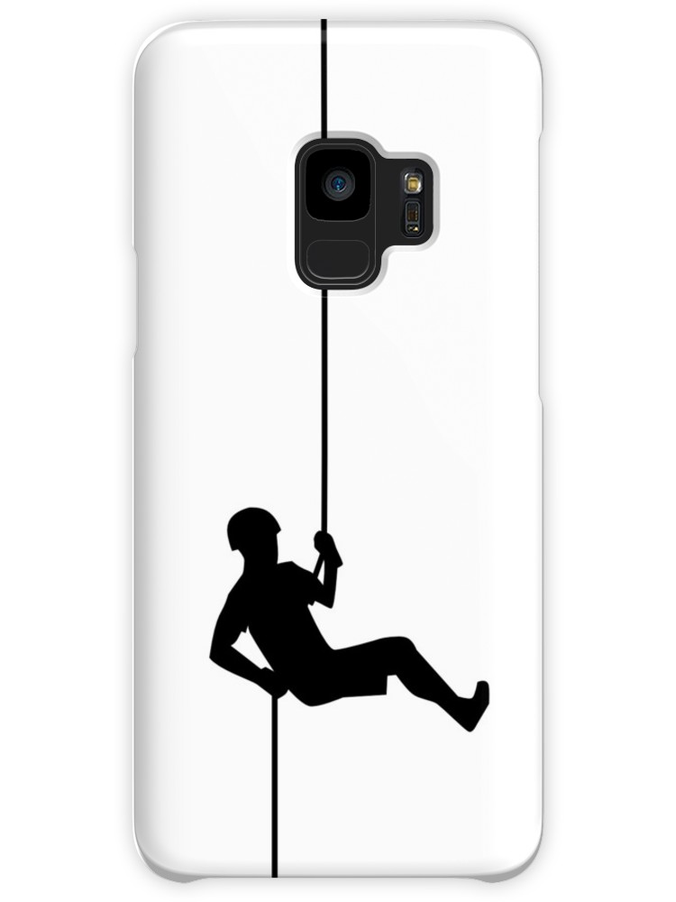 750x1000 Simple Black Rappelling Silhouette Cases Amp Skins For Samsung