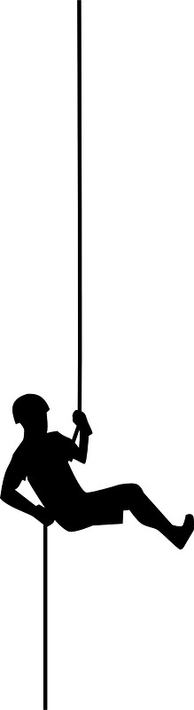219x800 Simple Black Rappelling Silhouette Stickers By Pdgraphics Redbubble