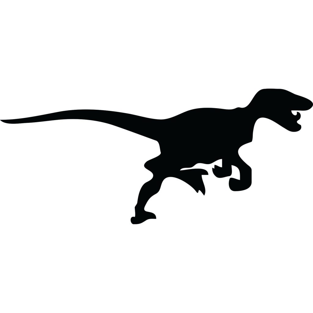 1024x1024 Coloring Page ~ Velociraptor Coloring Page Dinosaur Silhouette