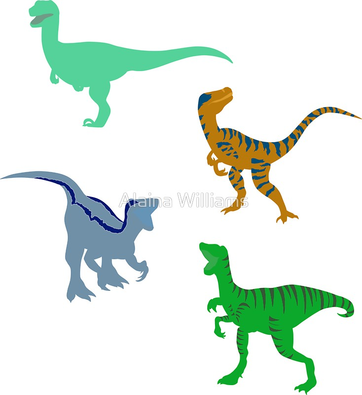 734x800 Delta The Raptor Silhouette Stickers By Alaina Williams Redbubble