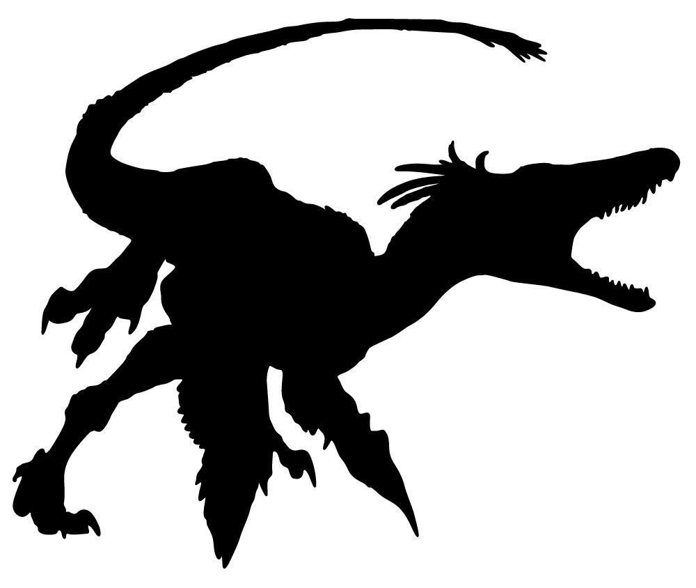 1000x844 Dinosaur Silhouette Black