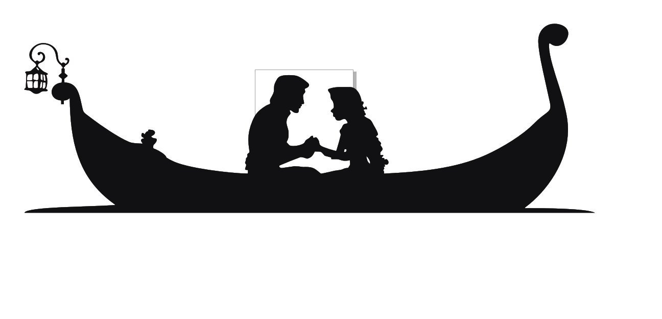 Rapunzel And Flynn Silhouette at GetDrawings | Free download