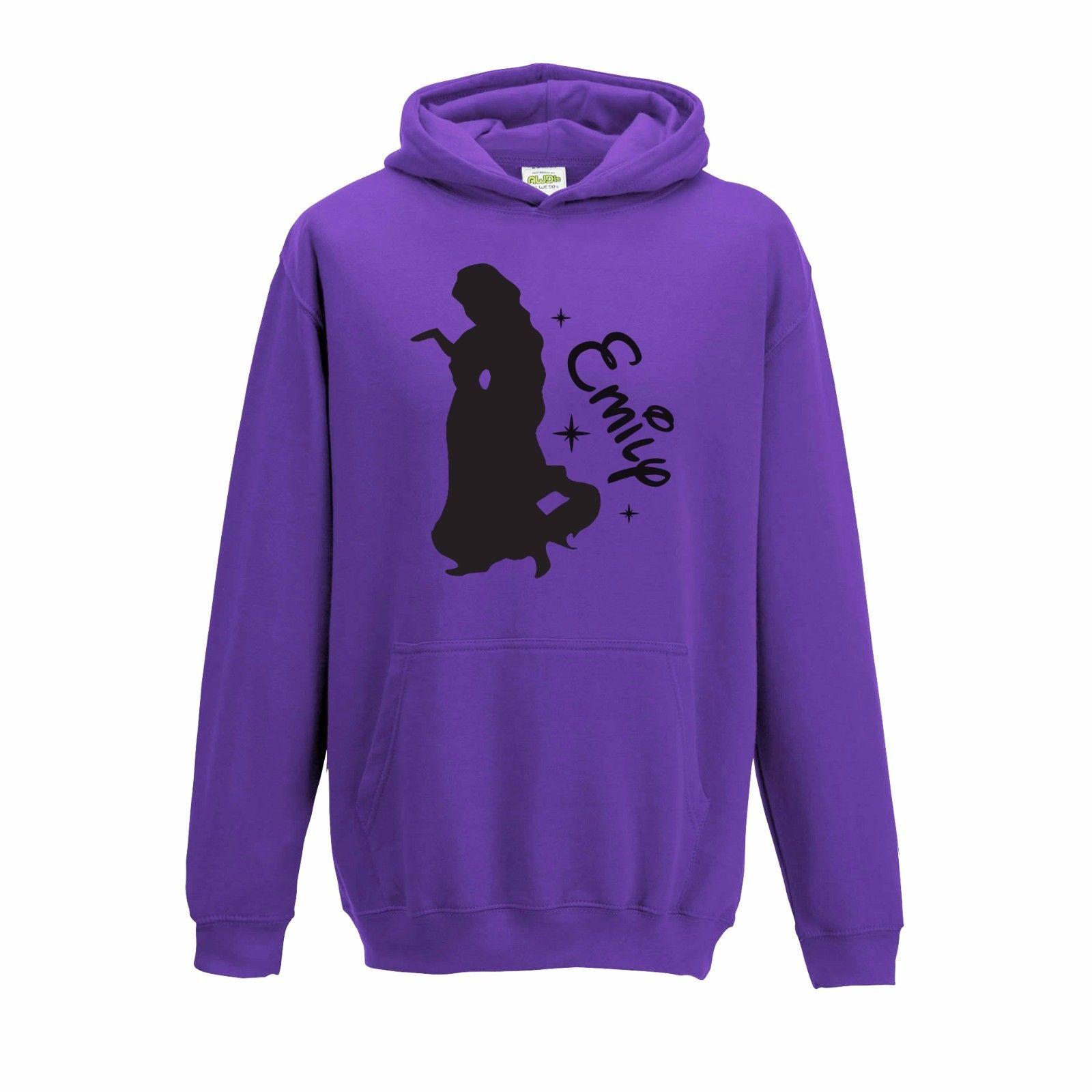 1600x1600 Personalised Princess Silhouette Disney Rapunzel Inspired Name Hoodie