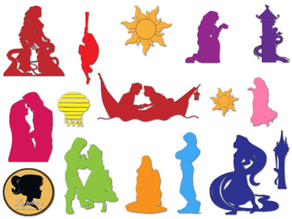 570x428 Rapunzel Princess Silhouette, Tangled Flynn Princess Set Svg Png
