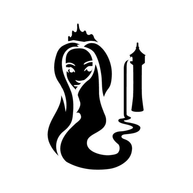 640x640 Rapunzel Stencil