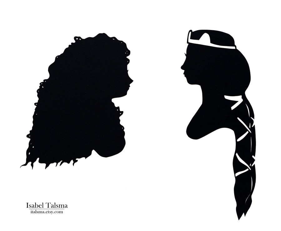 900x740 Rapunzel Tangled Silhouette