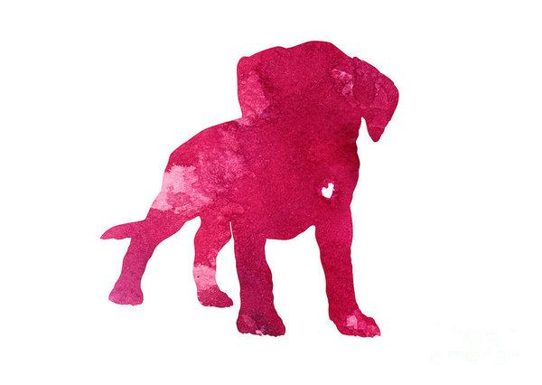 600x426 Raspberry Boxer Puppy Silhouette Art Print By Joanna Szmerdt