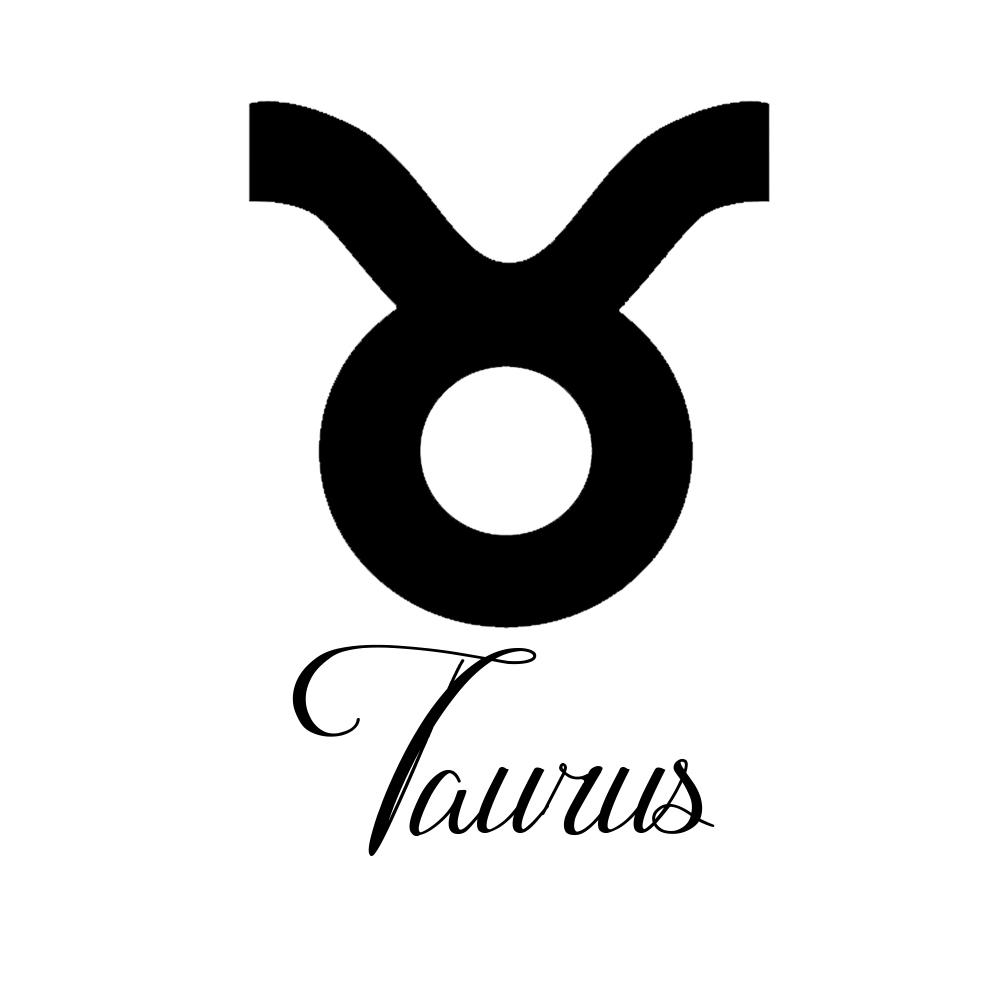 1001x1001 Sign Taurus Script Writing Silhouette Vinyl Sticker Car Decal