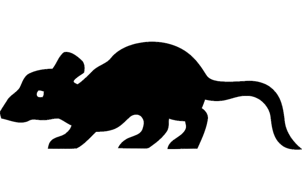 1002x633 Rat Silhouette Vector Dxf File Free Download