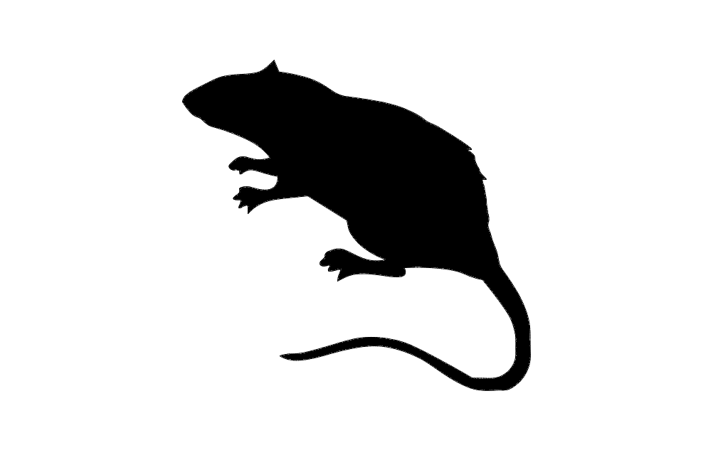 1002x633 Rat Silhouette Dxf File Free Download