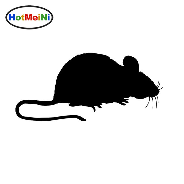 640x640 Hotmeini Funny Clever Rat Art Of Silhouette Car Sticker Door
