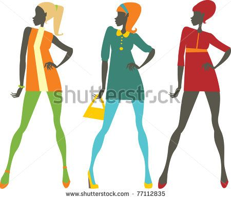 450x388 Sixties Sixties Style Then Girl Silhouette