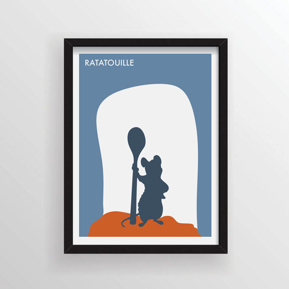 570x570 8.5 X 11 Ratatouille Minimalist Poster