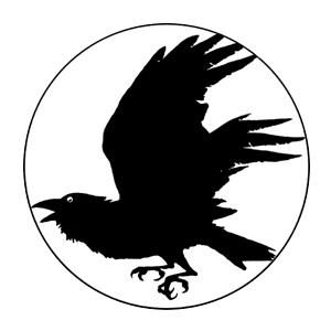 300x300 Raven Silhouette Flying A Flying Raven Silhouette