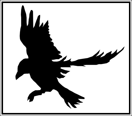 436x384 Raven Silhouette By Lightsoff Blackout