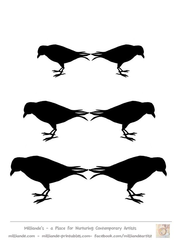 Raven Silhouette Printable at GetDrawings.com | Free for personal ...