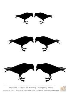 236x314 Crow Silhouettes, Crow Clipart, Clip Art, Birds, Black Crows