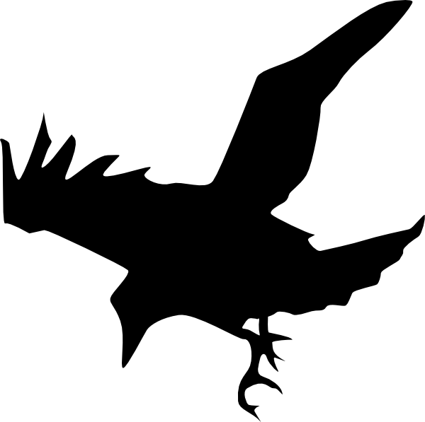 600x597 Raven Silhouette Clip Art Free Vector 4vector