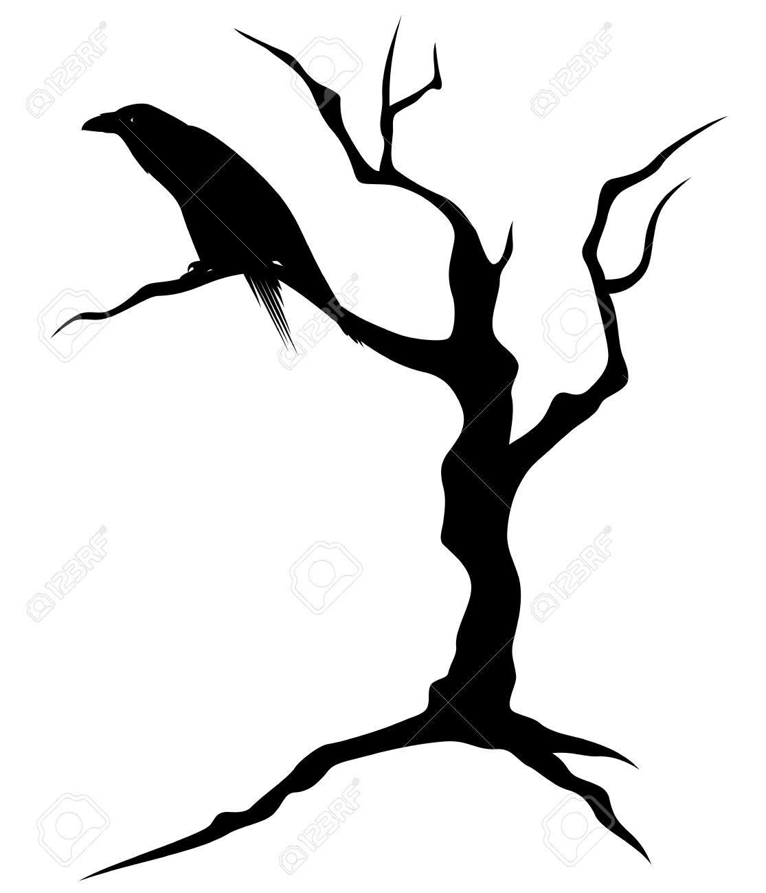 1115x1300 Raven Clipart Branch Silhouette