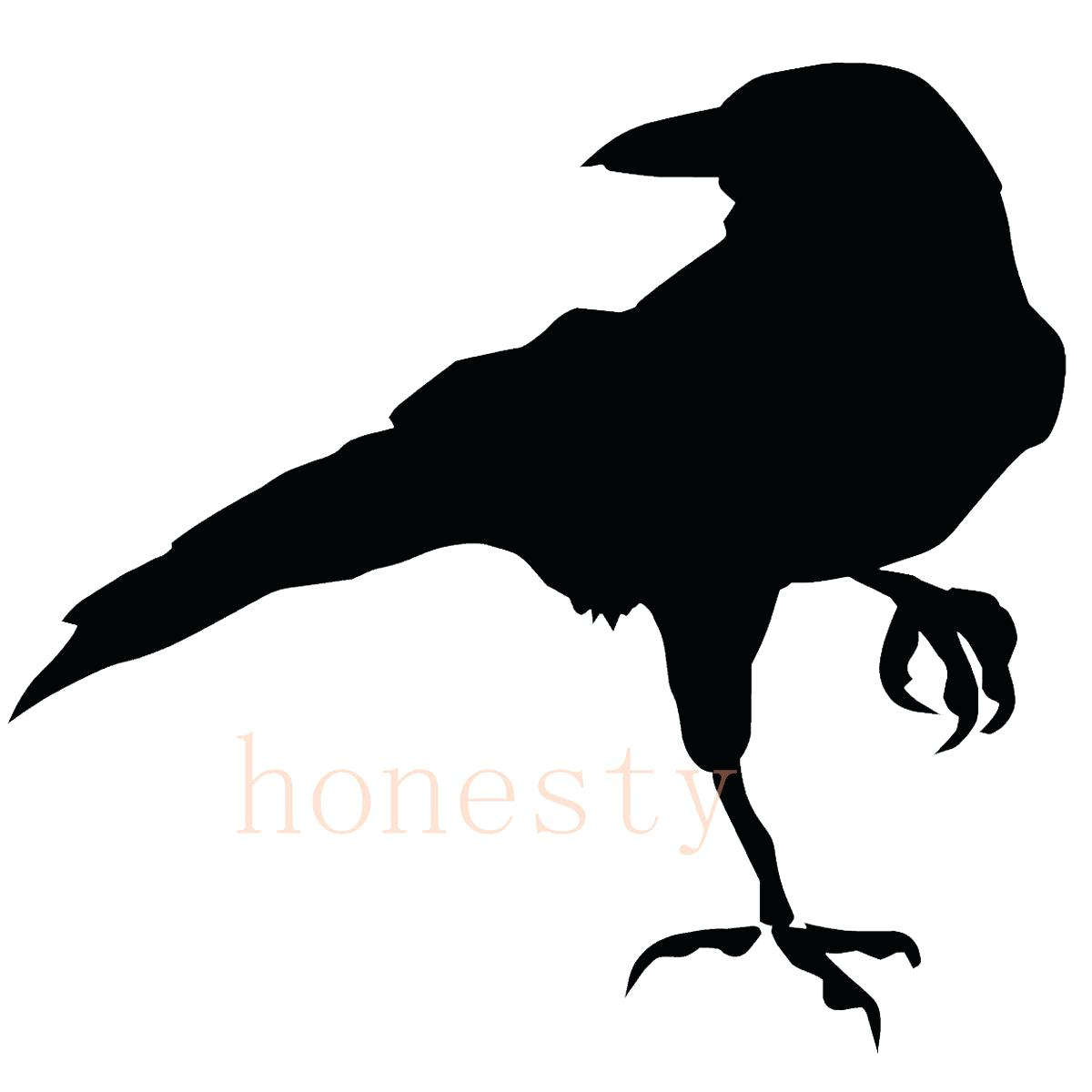 1200x1200 Ravens Wall Decals Raven Silhouette Bird Silhouettes Free