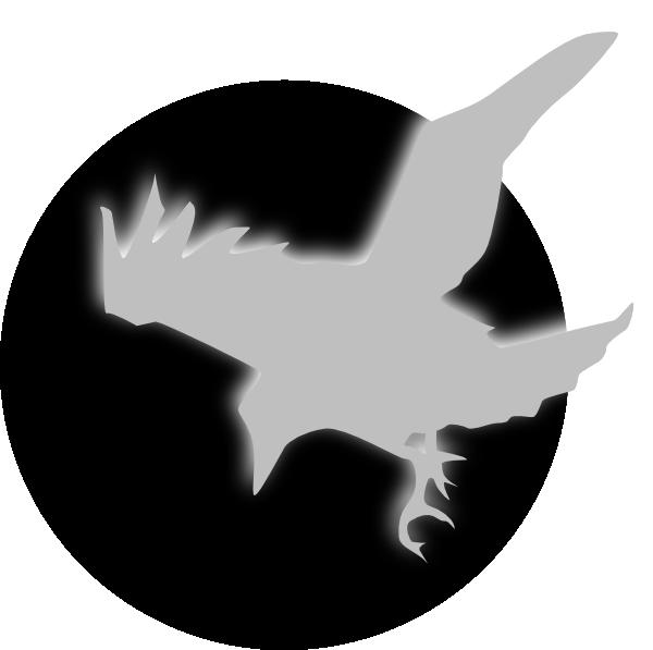600x597 Raven Gray Clip Art