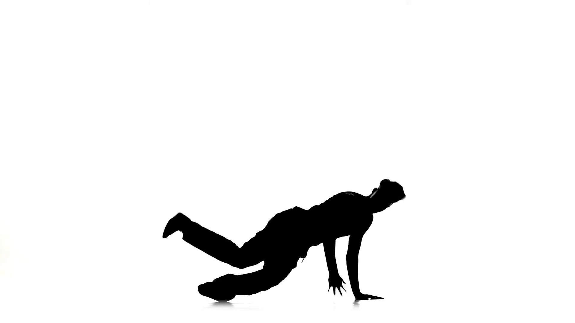 1920x1080 Man Dancing Breakdance Professionally Moves And Sits, White