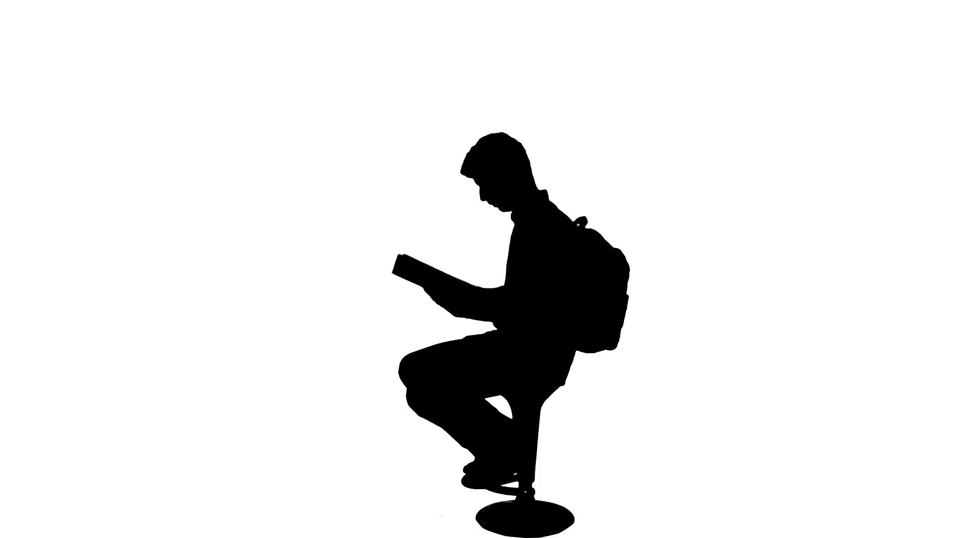1920x1080 University Student Exams Reading Book Silhouette