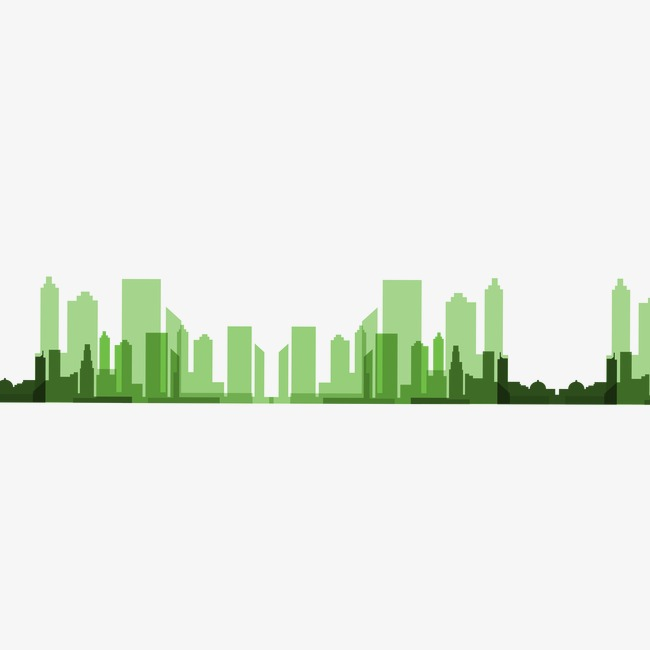 650x650 Green City Silhouette Poster Creative Real Estate, Green City