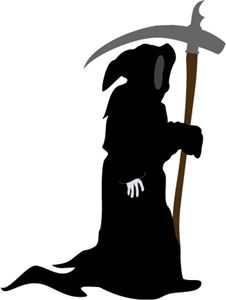 226x300 Scary Reaper Silhouette Scary, Silhouettes And Cricut