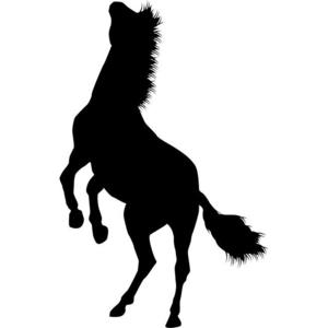 300x300 Rearing Horse 02 Stencil By Crafty Stencils