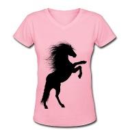 190x190 Rearing Stallion Silhouette 2 T Shirt Spreadshirt